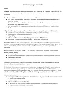 Otorrinolaringologia: rinossinusites
