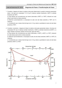 Diagrama de Fases - Lista e Gabarito