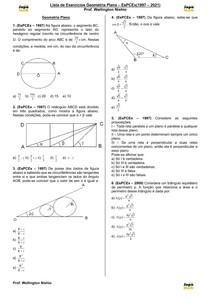 Geometria Plana(EsPCEx 1997-2021)