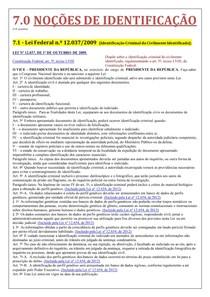 Noções de identificação - material completo (PC-SP)
