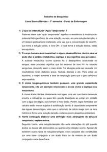 Trabalho de bioquímica - Solução Tampão 2