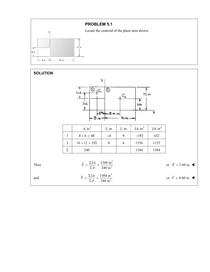 Resolução do Capítulo 5 - Forças Distribuídas (Centroides e Centro de Gravidade)