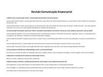 Revisão Comunicação Empresarial (RESPONDIDA)