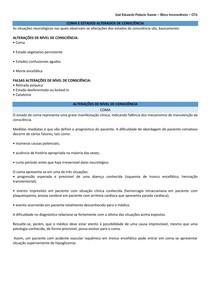 COMA E ESTADOS ALTERADOS DE CONSCIÊNCIA