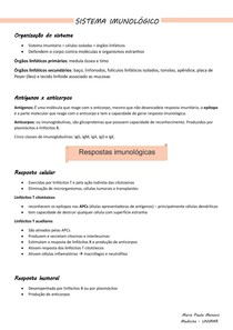 Histologia - sistema imunológico