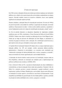 Resenha 25 anos de Educação pública no Brasil