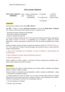 Matéria Direito Empresarial II