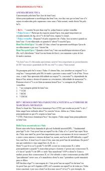 ANEMIA HEMOLÍTICA (Resumo)