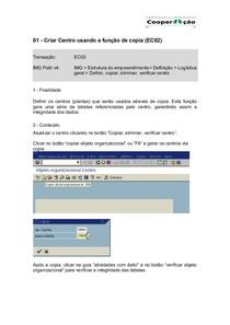 01 - EC02 - Criar Centro usando a função de copia