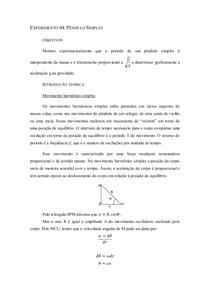 Experimento 04 - Pêndulo Simples