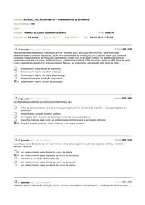 Av1 Fundamentos da Economia - Prova