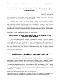 COMPREENDENDO A LACUNA ENTRE A PRÁTICA E A EVOLUÇÃO TÉCNICO-CIENTÍFICA DO BANHO NO LEITO1