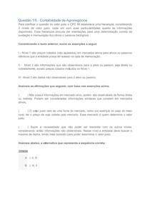 APOL 1 - Contabilidade de Agronegócios E Contabilidade Ambiental