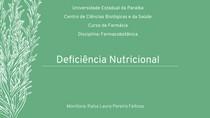 Deficiência nutricional de plantas