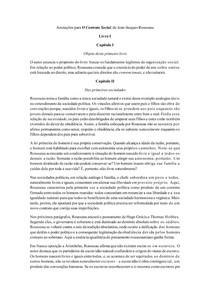 Fichamento - O Contrato Social (Capítulo a capítulo)