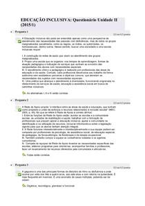 QUESTIONÁRIO II