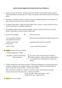 RESUMO DE DIREITO INTERNACIONAL PÚBLICO