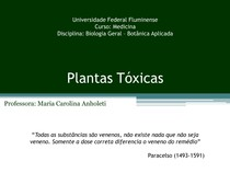 Aula 08 - Plantas Tóxicas