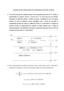 LISTA tensões e adensamento com resolução DETALHADA