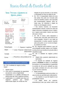 DIREITO CIVIL - Teoria Ponteana e elementos do Negócio Jurídico