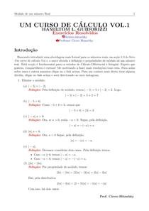 RESOLUÇÕES DE EXERCÍCIOS SECÃO 1.3 - LIVRO UM CURSO DE CÁLCULO VOL.1- HAMILTOM L. GUIDORIZZI