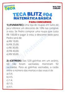 Teca blitz #04 - Questões de Matemática Básica para Concursos