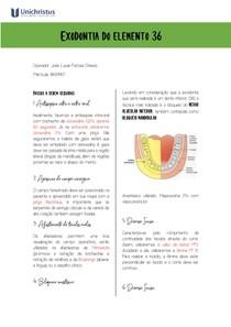 Exodontia do elemento 36