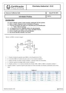 Avaliação Prática - Eletrônica Industrial - ELE Prática