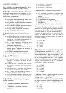 Questões - MIA e QUÍMICA - Com Gabarito