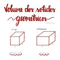 Volume dos sólidos geométricos
