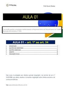 TST   Regimento Interno   Aula 1   Art. 1º ao 34