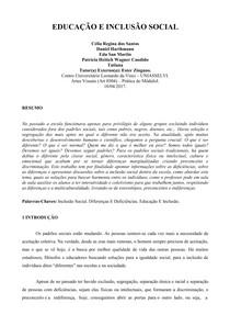 PAPER  EDUCAÇÃO INCLUSIVA