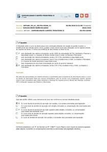 Teste CONTABILIDADE E GESTÃO TRIBUTÁRIA II