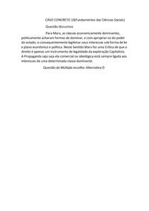 CASO CONCRETO 10 fundamentos das Ciências Sociais