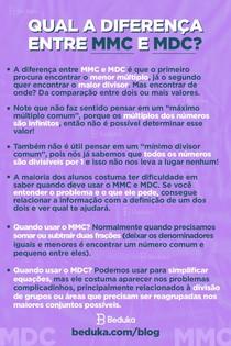 Diferenças entre MMC e MDC