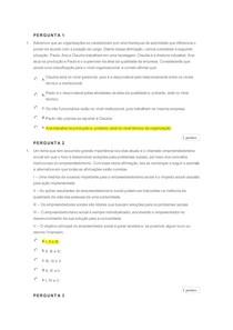 Fundamentos da Administração - Quiz