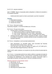 DIREITO FALIMENTAR - PRINCIPIOS E ELEMENTOS ESPECIFICOS DA RJ