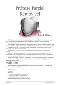 Apostila de Prótese Parcial Removível (PPR)   Frank Kaiser