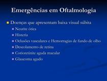 Aula 7 - Emergências em Oftalmologia