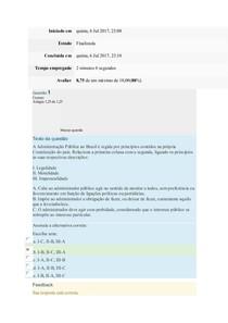 Prova de Direito Administrativo UEMA
