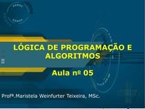 2016 GRADUAÇÃO Algoritmos 05