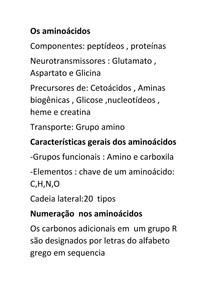 Os aminoácidos