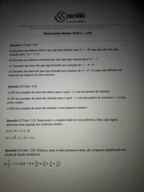 Ad1 Matemática Básica UFF Cederj