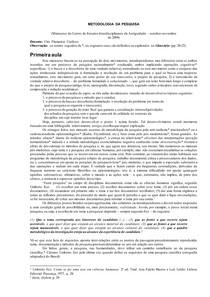 Minicurso de Metodologia de Pesquisa - Ciro Flamarion Cardoso