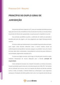 Princípio do duplo grau de jurisdição - Resumo