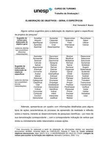Lista de verbos para substituir em seu TCC