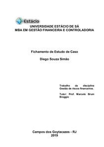 Fichamento Diego Gestão de riscos financeiros(1)