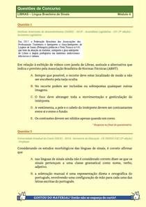 LIBRAS - Questões de Concursos Publicos - Modulo 4