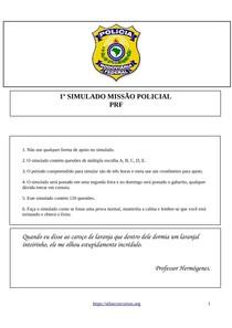 1º Simulado Missão Policial - PRF (2018).pdf - Direito f85ce4ada8