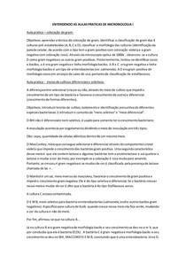 ENTENDENDO AS AULAS PRATICAS DE MICROBIOLOGIA I